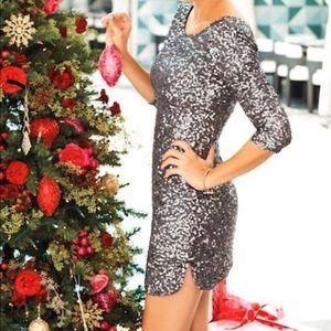 Lauren Conrad Scoop Neck Sequin Dress